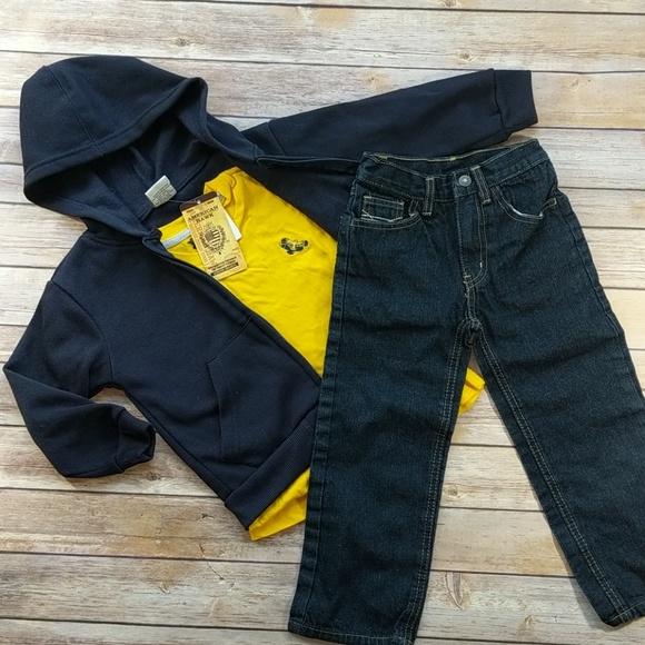 Long Sleeve /& Jean Sets Boys American Hawk 3pc Short Sleeve